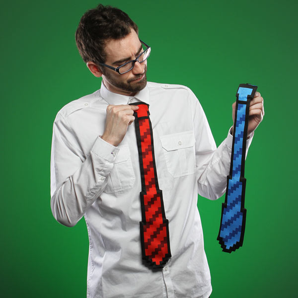 The ThinkGeek 8bit Tie