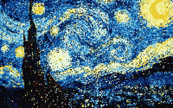 8-Bit-Starry-Night
