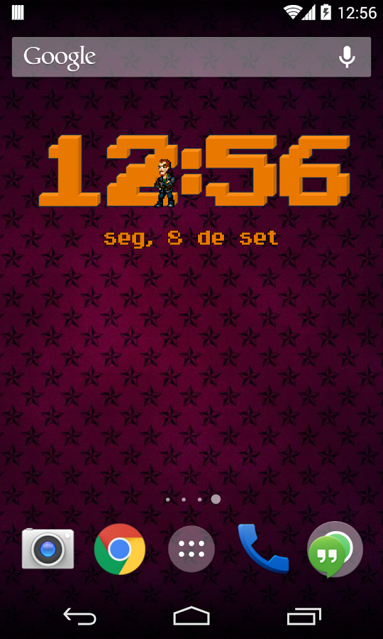 8-Bit Clock Widget for Android | 8-Bitters